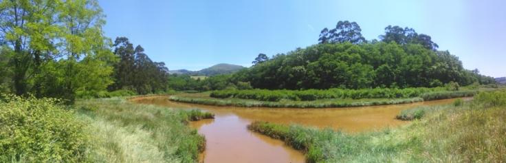 Vista panorámica de la ría de Solía.