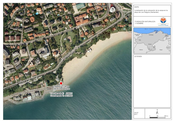 Mapa playa Los Peligros