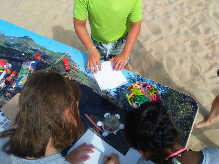 Niños dibujando lo aprendido