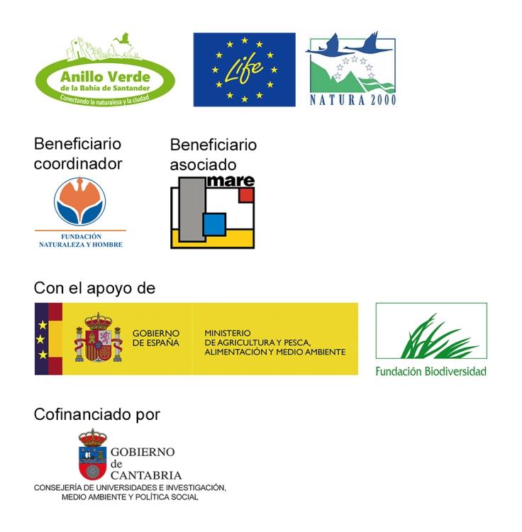 Entidades colaboradoras LIFE Anillo Verde de la Bahía de Santander