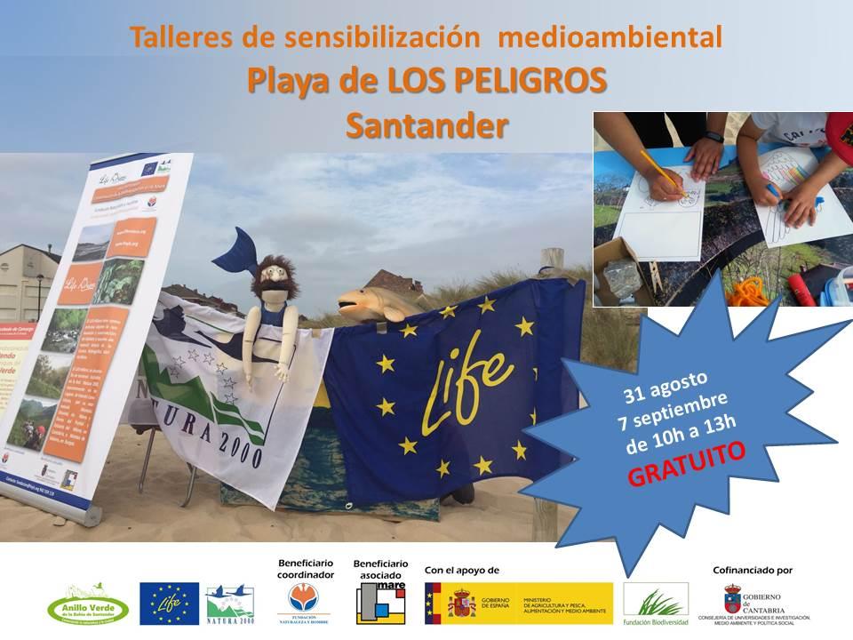 Talleres de sensibilización medioambiental playa de Los Peligros