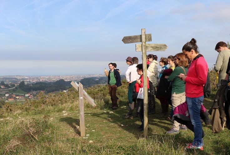 Bahía Santander desde el Alto de la Gigüela encinar Peñas Negras en visita de campo Workshop Nature In The City