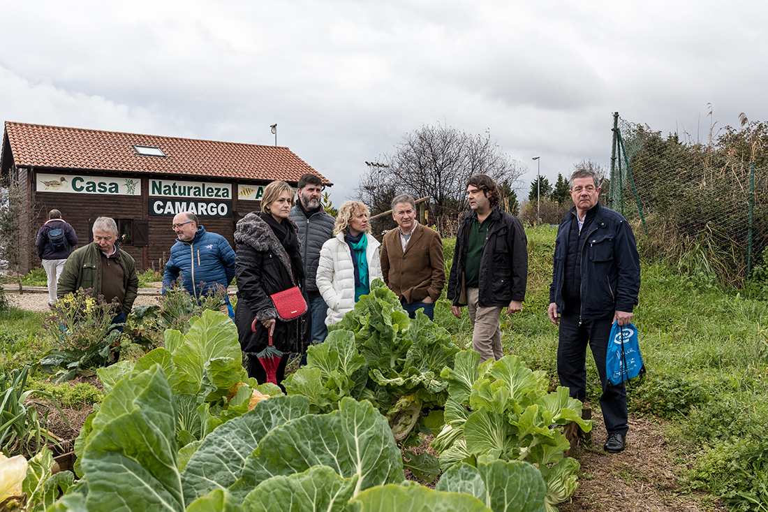 Visita del Jardín ecológico de la Casa Naturaleza Humedales Anillo Verde de la Bahía Santander