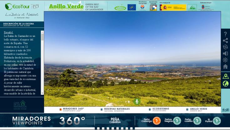 Visita Virtual 360º al Anillo Verde de la Bahía de Santander.
