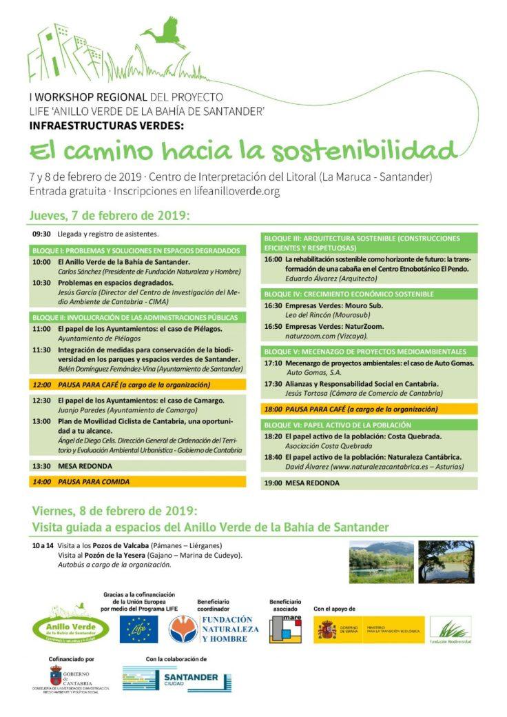 Programa de las Jornadas sobre Sostenibilidad
